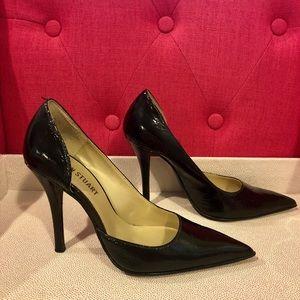 Colin Stuart black shiny heels - Size 7